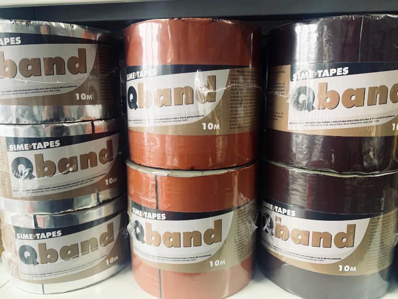 Qband taśma dekarska bitumiczna w kolorze brązowym 150mmx10mb