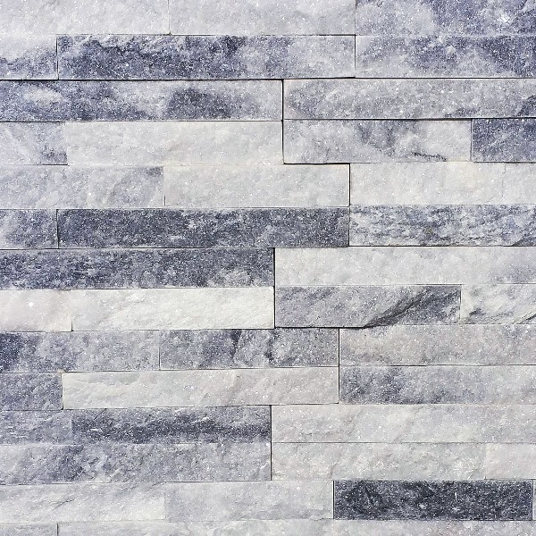 Panel ścienny Kwarcyt Biało-szary 10x36x0,8-1,3 cm
