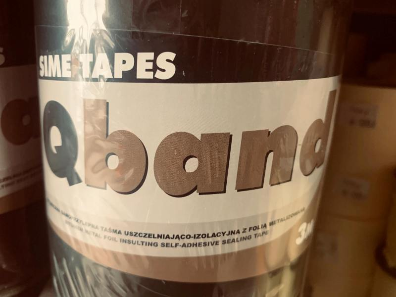 Qband taśma dekarska bitumiczna w kolorze antracyt 150mmx10mb