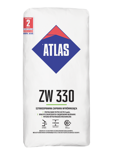 Atlas ZW 330 zaprawa wyrównująca szybkowiążąca 25 kg